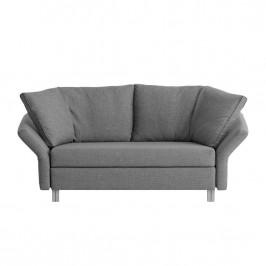 home24 chillout by Franz Fertig Schlafsofa Florenz 2-Sitzer Grau Webstoff 156x87x90 cm mit Schlaffunktion