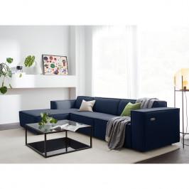 home24 KINX Ecksofa Kinx II 2,5-Sitzer Dunkelblau Webstoff 294x70x177 cm