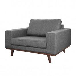 home24 Mørteens Sessel Billund Grau Strukturstoff 122x84x91 cm (BxHxT)