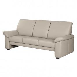 home24 Modoform Sofa Grimsby 3-Sitzer Taupe Echtleder 212x94x92 cm