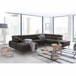 home24 loftscape Wohnlandschaft Rivas Braun Strukturstoff 330x79x232 cm
