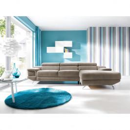 home24 loftscape Ecksofa Morelia I Cappuccino Microfaser 285x72x218 cm