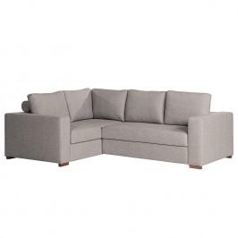 home24 loftscape Ecksofa Woodway II Grau Webstoff 248x88x183 cm mit Schlaffunktion und Bettkasten