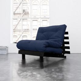 home24 Karup Design Schlafsessel Roots 90 I Marineblau Webstoff mit Schlaffunktion 90x83x105 cm (BxHxT)