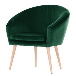 home24 Mørteens Sessel Tippytoe IV Dunkelgrün Microfaser 73x73x66 cm (BxHxT)
