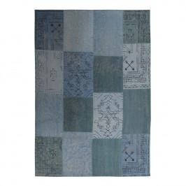 home24 Kayoom Kurzflorteppich Lyrical 210 Blau Rechteckig 150x80 cm (BxT) Vintage Design Baumwolle