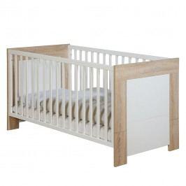 Kombi-Kinderbett Daniel - Eiche Sägerau Dekor / Weiß - Ohne Umbauseiten, Roba