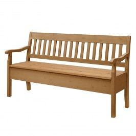 Sitzbank Boston - Kiefer massiv - Mit Armlehnen - Kiefer Laugenfarbig - 169 cm, Maison Belfort