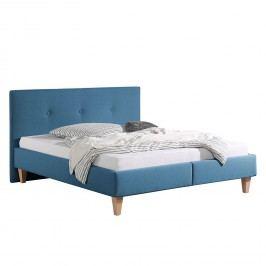 Polsterbett Alnarp Strukturstoff - 160 x 200cm - Bettgestell ohne Matratze & Lattenrost - Jeansblau, Morteens