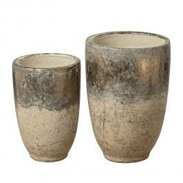 Vase Goubi II (2-teilig) - Terrakotta - Gold / Beige, CAPESIDE Westcoast