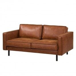 Sofa Fort Dodge (2-Sitzer) Antiklederlook - Cognac, ars manufacti