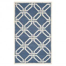 Wollteppich Mollie - Wolle - Marineblau - 91 x 152 cm, Safavieh
