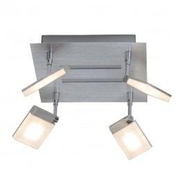 EEK A+, Deckenleuchte Plaxico - Metall/Kunststoff - Silber - 4-flammig, Brilliant