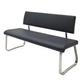 Sitzbank Marco - Kunstleder - Schwarz - 175 cm, loftscape