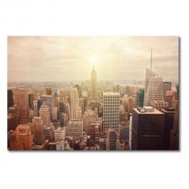 Leinwandbild New York Retro - Leinwand - Braun / Beige, Wandbilder XXL
