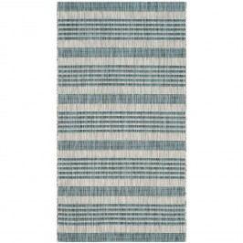 In & Outdoor Teppich Wilshire - Kunstfaser - Chasmere / Petrol - 121 x 170 cm, Safavieh