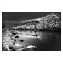 Bild Snowy River - Leinwand - Schwarz / Weiß, Wandbilder XXL
