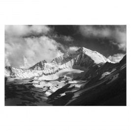 Bild Big Mountain - Leinwand - Schwarz / Weiß, Wandbilder XXL