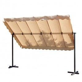 Mobiler Sonnenschutz Nieby - Metall/Textil - Anthrazit/Creme, Garden Pleasure