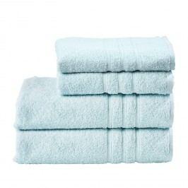 Handtuchset Pigi (4-teilig) - Baumwollstoff - Pastellblau, Morteens