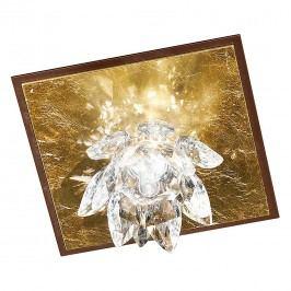 EEK A, Deckenleuchte Fiore Cristallo - Metall/Glas - Gold - 1-flammig, Hans Kögl