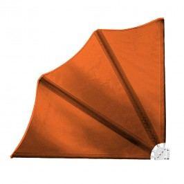 Balkonfächer Coral - Stahl/Polyester Orange, Leco