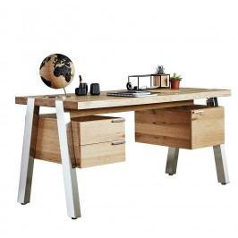 Schreibtisch Solid Desk 160 - Wildeiche / Chrom, Jahnke