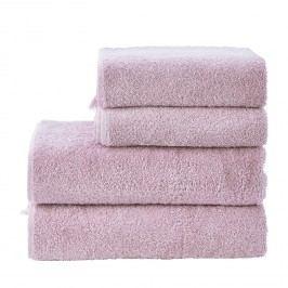 Handtuchset Prov Boheme I (4-teilig) - Baumwollstoff - Lavendel, mooved