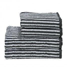 Handtuchset Day Stripes I (4-teilig) - Baumwollstoff - Alpinweiß / Anthrazit, mooved