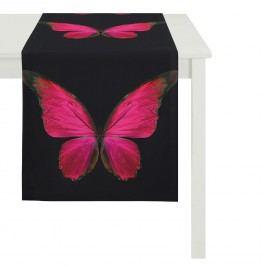 Tischläufer Schmetterling - Schwarz / Rot, Apelt
