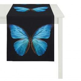 Tischläufer Schmetterling - Schwarz / Blau, Apelt