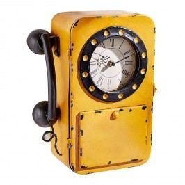 Wanduhr Telefon - Eisen - Gelb / Schwarz, ars manufacti