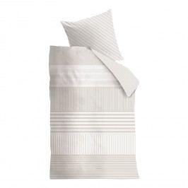 Bettwäsche Hilton Head - Baumwollstoff - Beige / Weiß - 200 x 220 cm + 2 Kissen 80 x 80 cm, CAPESIDE Westcoast