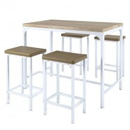 Bar-Set Marana (5-teilig) - Eiche Sonoma Dekor/Weiß, Home Design