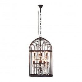 EEK A++, Hängeleuchte Cage Chandelier - Eisen/Glas - Durchmesser: 56 cm, Kare Design