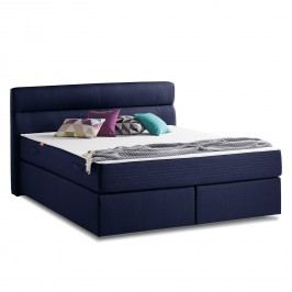 Boxspringbett Smood Colour II - Strukturstoff - 180 x 200cm - Brilliantblau, Smood