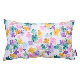 Kissenhülle T-Petite Flowers - Baumwollstoff - Weiß / Grün, Tom Tailor