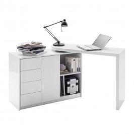 Schreibtisch-Kombination Logan - Weiß, Fredriks