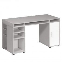Schreibtisch Magic VIII - Platingrau / Weiß, Maja Möbel