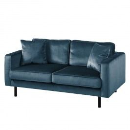 Sofa Edina Samt (2-Sitzer) - Dunkelblau, Eva Padberg Collection