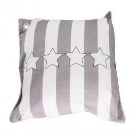 Kissen Stars & Stripes Neo - Baumwollstoff - Grau / Weiß, CAPESIDE Westcoast