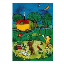 Teppich Janosch Zirkus Panama - Kunstfaser - Mehrfarbig - 160 x 230 cm, Janosch