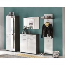Garderoben-Set Smart (4-teilig) - Weiß / Grau, Trendteam
