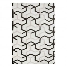 Kurzflorteppich Ibri - Baumwolle - Beige / Schwarz - 160 x 230 cm, Top Square