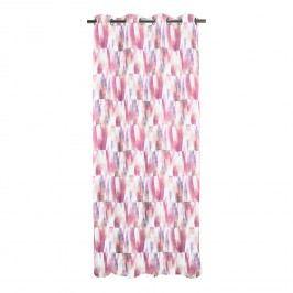 Ösenschal Aquarell - Webstoff - Weiß / Pink, Apelt