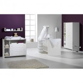 Babyzimmer Eco Stripe (3-teilig) - Weiß, Schardt