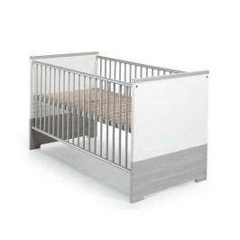 Babybett Eco - Pinie-Silber Dekor/Weiß - mit Umbauseiten, Schardt