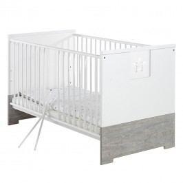 Babybett Eco Star - Driftwood Dekor/ Weiß, Schardt