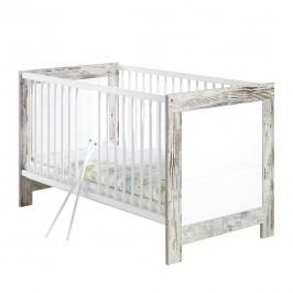Babybett Nordic - Shabby Chic Dekor/Weiß, Schardt