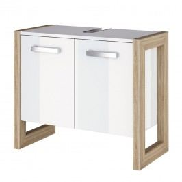 Waschbeckenunterschrank Kolind - Hochglanz Weiß, Schildmeyer